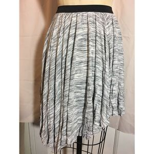 Knit jersey asymmetrical skirt